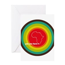South Africa - You are here Greeting Card
