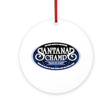 Santana's Champ' Ornament (Round)