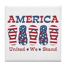 Flip Flop America Tile Coaster