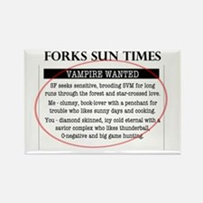 Vampire Wanted Rectangle Magnet