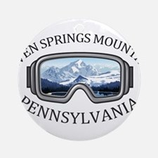 Seven Springs Mountain Resort - S Round Ornament