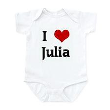 I Love Julia Infant Bodysuit