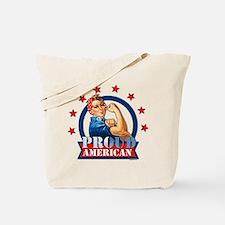 Rosie Riveter Proud American Tote Bag