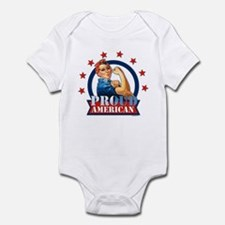 Rosie Riveter Proud American Infant Bodysuit