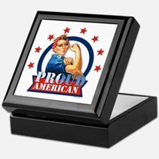 Rosie Riveter Proud American Keepsake Box