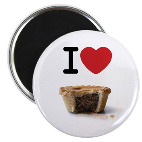 """I heart Meat Pies 2.25"""" Magnet (10 pack)"""
