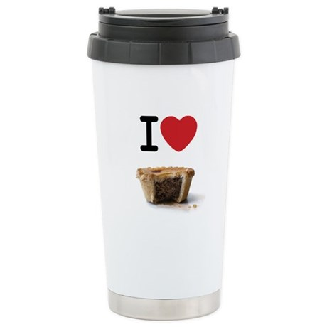 I heart Meat Pies Stainless Steel Travel Mug