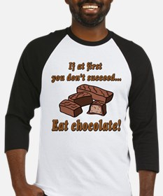 Eat Chocolate! Baseball Jersey