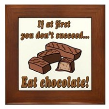 Eat Chocolate! Framed Tile