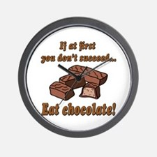 Eat Chocolate! Wall Clock