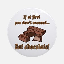 Eat Chocolate! Ornament (Round)