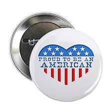 "Proud American Heart 2.25"" Button"