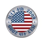"4th of July 2009 Souvenir 3.5"" Button (100 pack)"