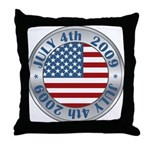 4th of July 2009 Souvenir Throw Pillow