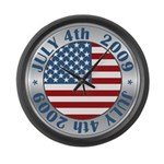 4th of July 2009 Souvenir Large Wall Clock