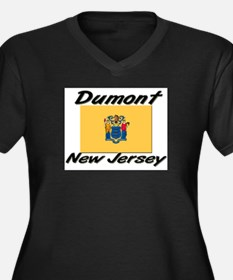 Dumont New Jersey Women's Plus Size V-Neck Dark T-