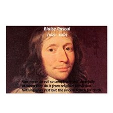 Mathematician: Blaise Pascal Postcards (Package of