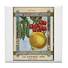 Sow Salzer's Seeds Tile Coaster