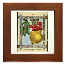 Sow Salzer's Seeds Framed Tile