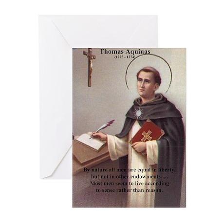 Theology Thomas Aquinas Greeting Cards (Package of
