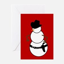 Cowboy Snowman Greeting Cards (Pk of 10)