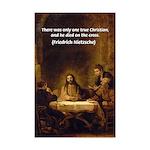 Jesus True Christian: Nietzsche Print
