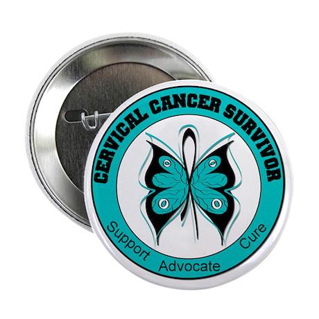 "Cervical Cancer Survivor 2.25"" Button (100 pack)"