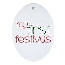 My 1st Festivus Oval Ornament