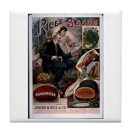 Rice's Ponderosa Tile Coaster