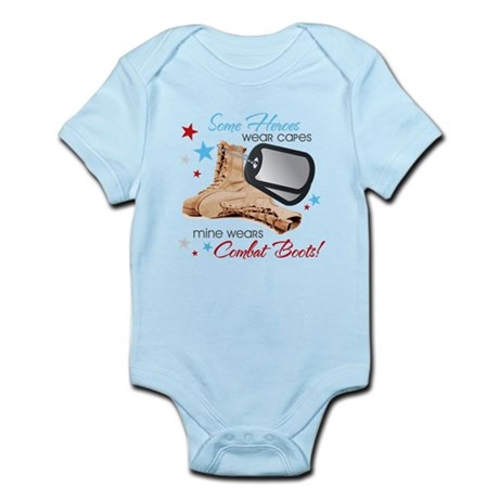 Some Heroes Wear Capes Infant Bodysuit