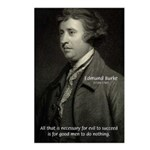 Edmund Burke: Good & Evil Postcards (Package of 8)