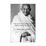 Mohandas Gandhi: Karma Action Change Posters