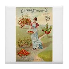 Green Nursery 1899 Tile Coaster