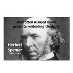 Evolutionist Herbert Spencer Postcards (Package of