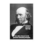Herbert Spencer Misleading Thoughts Print