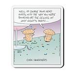 Champagne Cork Hangovers Mousepad
