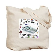 Pontoon Boating Boat Fun Tote Recycle Grocery Bag