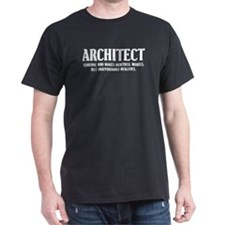 Funny Architect Black T-Shirt