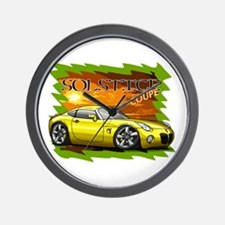 Yellow Solstice Coupe Wall Clock