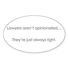 Always Right Oval Decal