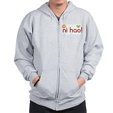 ni hao! Zip Hoodie