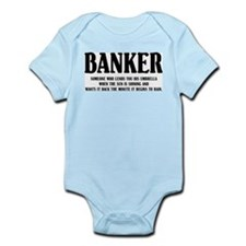 Funny Banker Infant Creeper