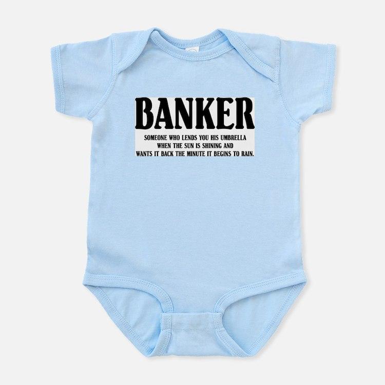 Funny Banker Infant Creeper