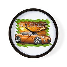 Burnt Orange Solstice Coupe Wall Clock