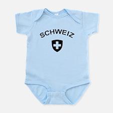 Switzerland Schweiz Infant Bodysuit