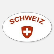Switzerland Schweiz Oval Decal