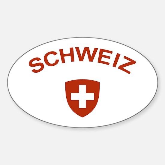 Switzerland Schweiz Oval Decal