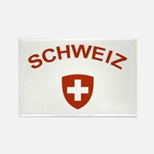 Switzerland Schweiz Rectangle Magnet