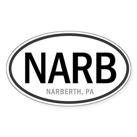 Narberth Oval Sticker