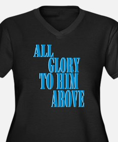 All Glory to Him Above Plus Size V-Neck Tee